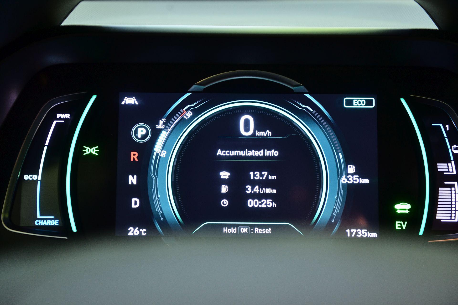 Hyundai Ioniq Plug-in Hybrid instrumentar de bord