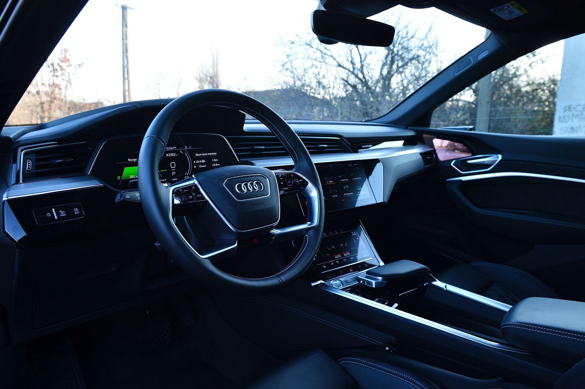 interior Audi e-tron 55 Sportback